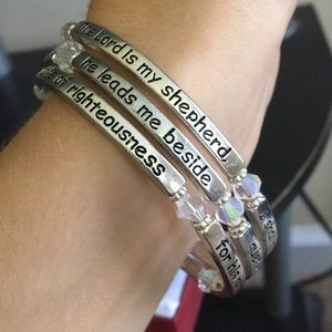 Psalms 23 wrap bracelet